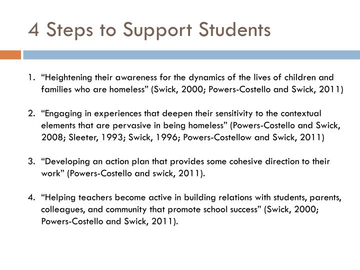 4 Steps 	to Support Students