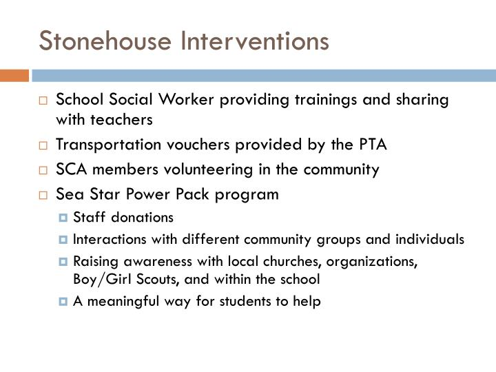 Stonehouse Interventions