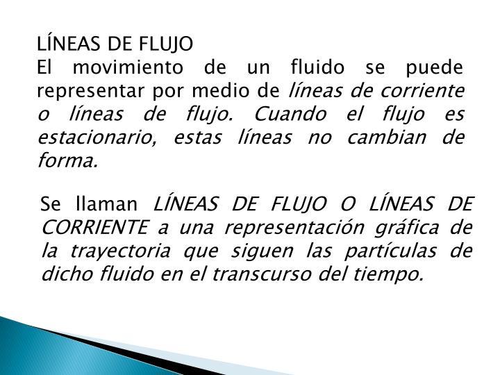LÍNEAS DE FLUJO