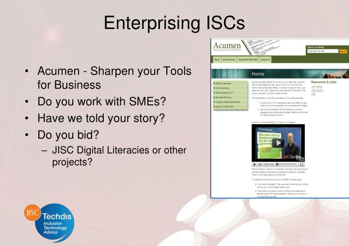 Enterprising ISCs