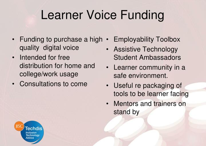Learner Voice Funding