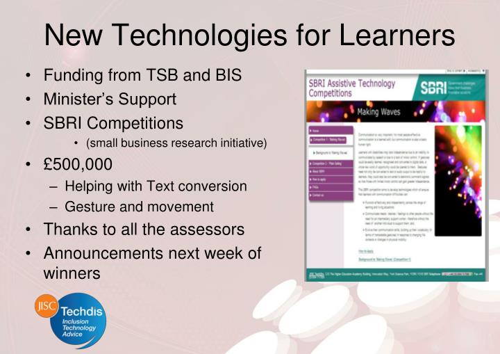 New Technologies for Learners