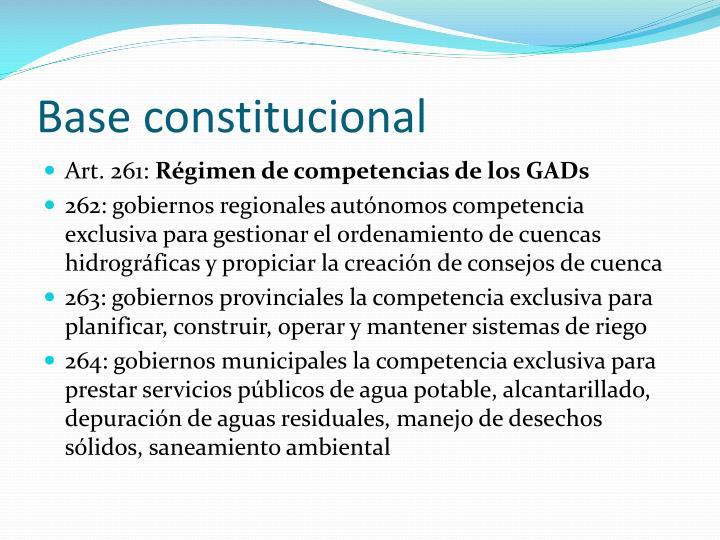 Base constitucional
