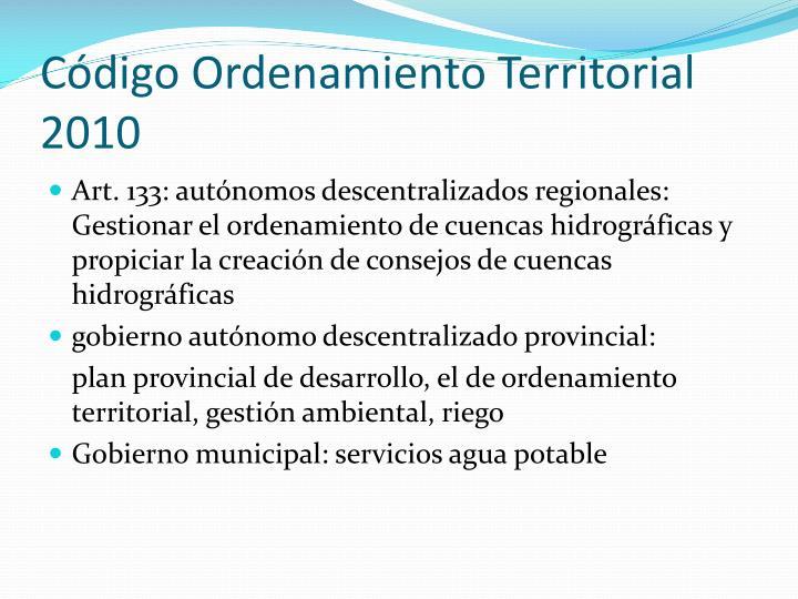Código Ordenamiento Territorial 2010