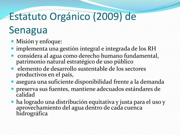 Estatuto Orgánico (2009) de