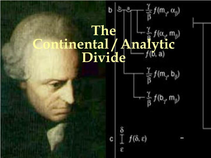the continental analytic divide