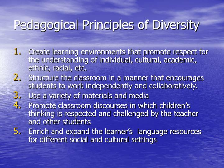 Pedagogical Principles of Diversity