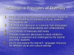 pedagogical principles of diversity