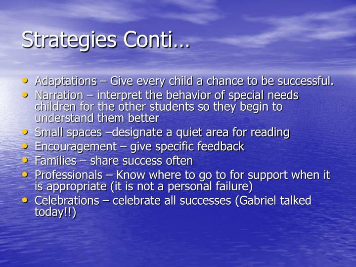 Strategies Conti…