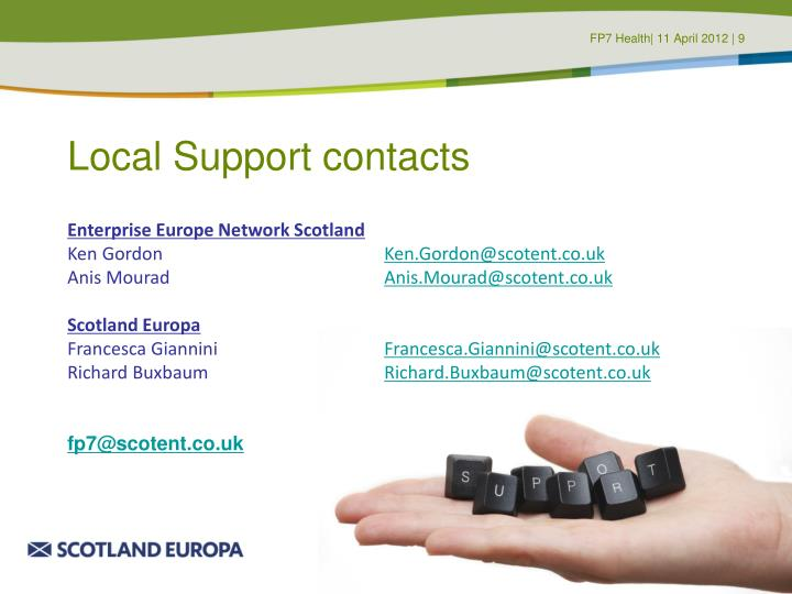 Local Support contacts
