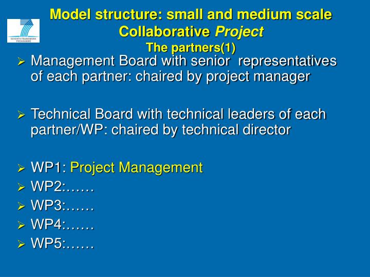 Model structure: