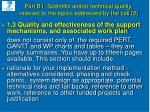 part b1 scientific and or technical quality relevant to the topics addressed by the call 2
