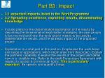 part b3 impact