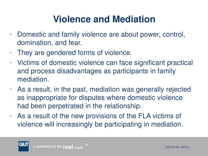 Violence and Mediation