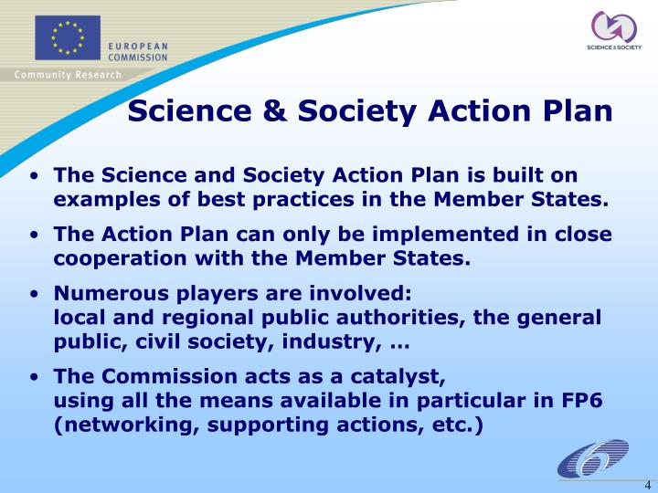 Science & Society Action Plan