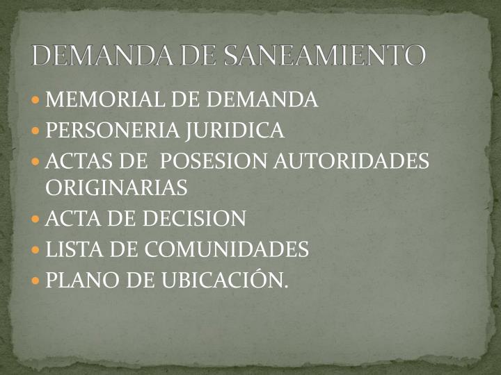 MEMORIAL DE DEMANDA