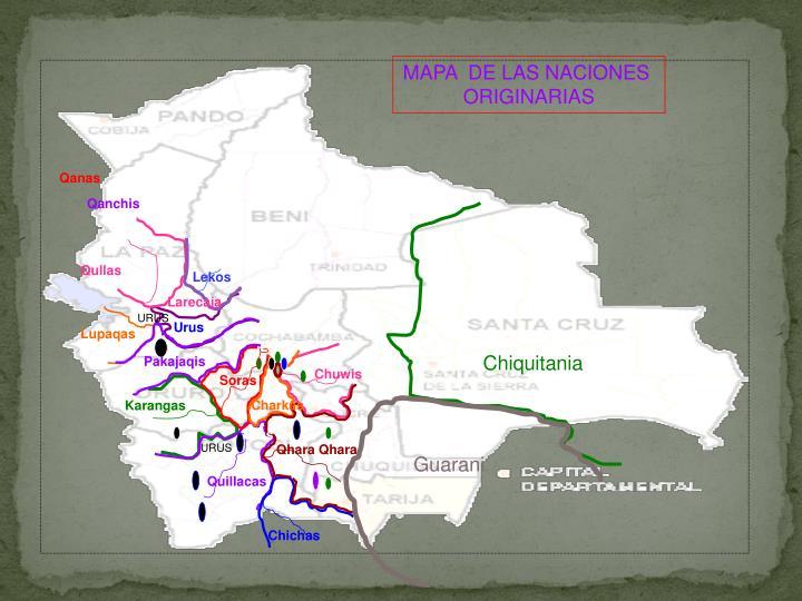 MAPA  DE LAS NACIONES