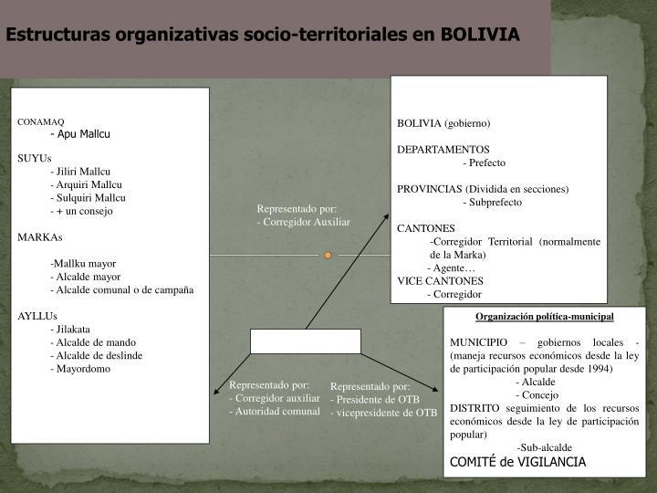 Estructuras organizativas socio-territoriales en BOLIVIA