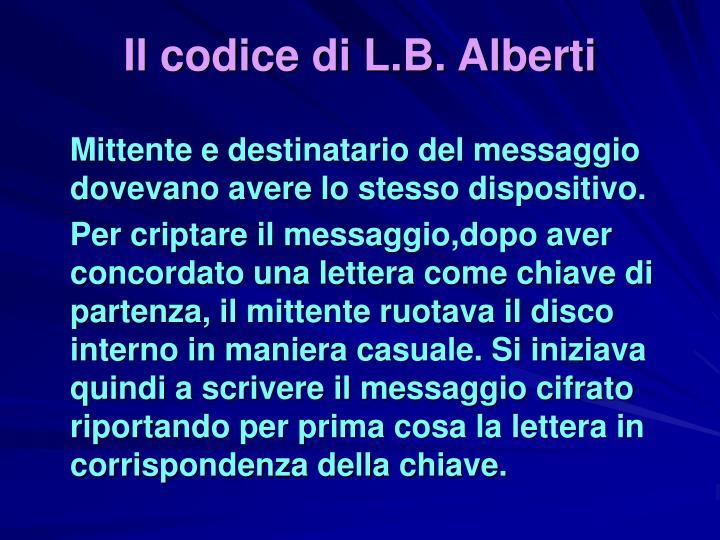 Il codice di L.B. Alberti