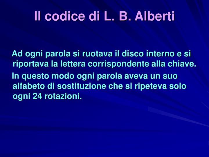 Il codice di L. B. Alberti