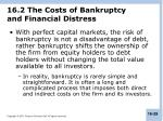 16 2 the costs of bankruptcy and financial distress