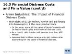 16 3 financial distress costs and firm value cont d
