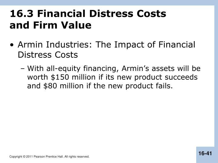 16.3 Financial Distress Costs