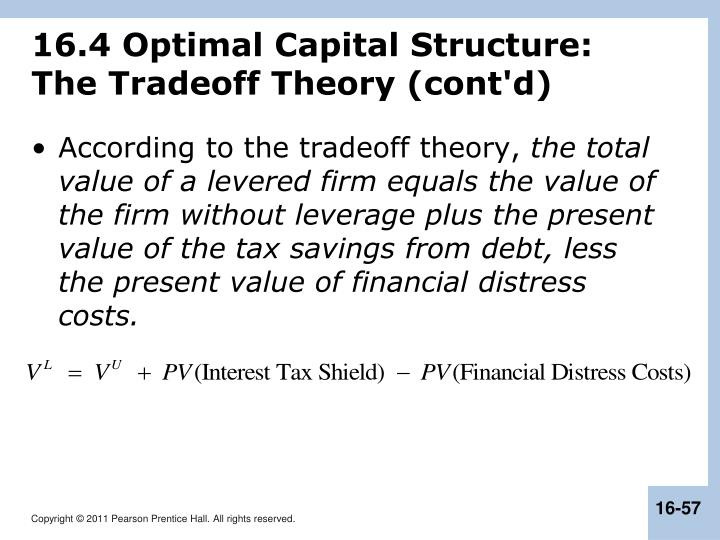 16.4 Optimal Capital Structure: