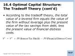 16 4 optimal capital structure the tradeoff theory cont d