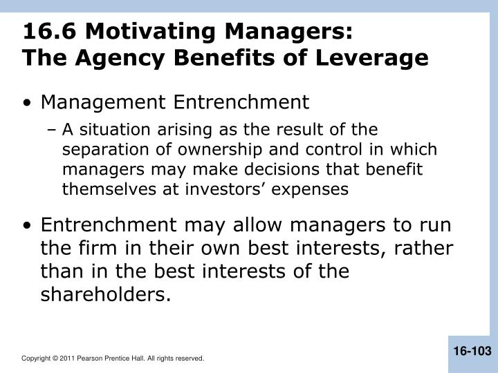 16.6 Motivating Managers: