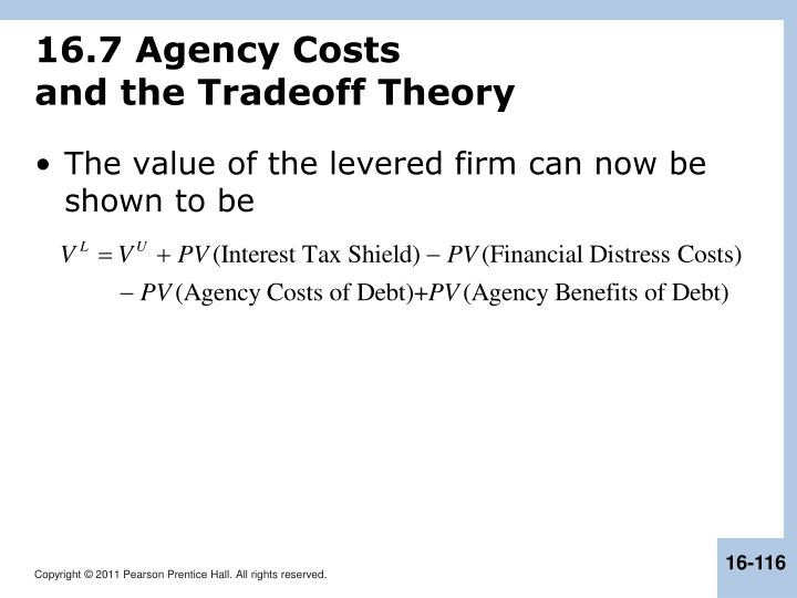 16.7 Agency Costs
