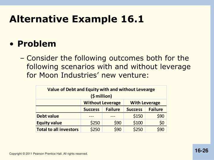 Alternative Example 16.1
