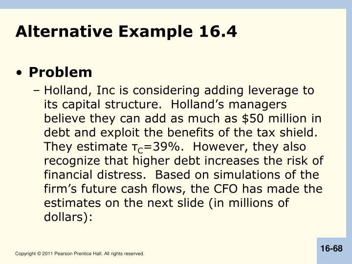 Alternative Example 16.4