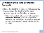 comparing the two scenarios cont d1