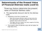 determinants of the present value of financial distress costs cont d1