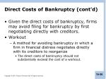 direct costs of bankruptcy cont d1