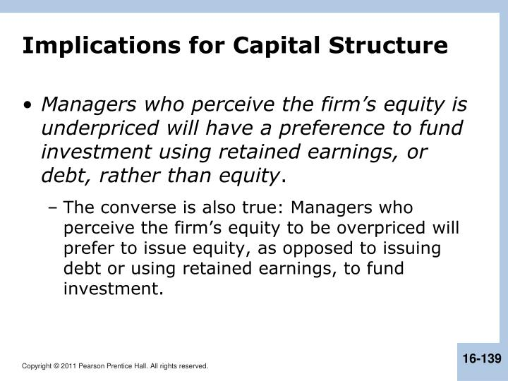 Implications for Capital Structure