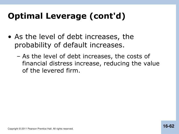 Optimal Leverage (cont'd)