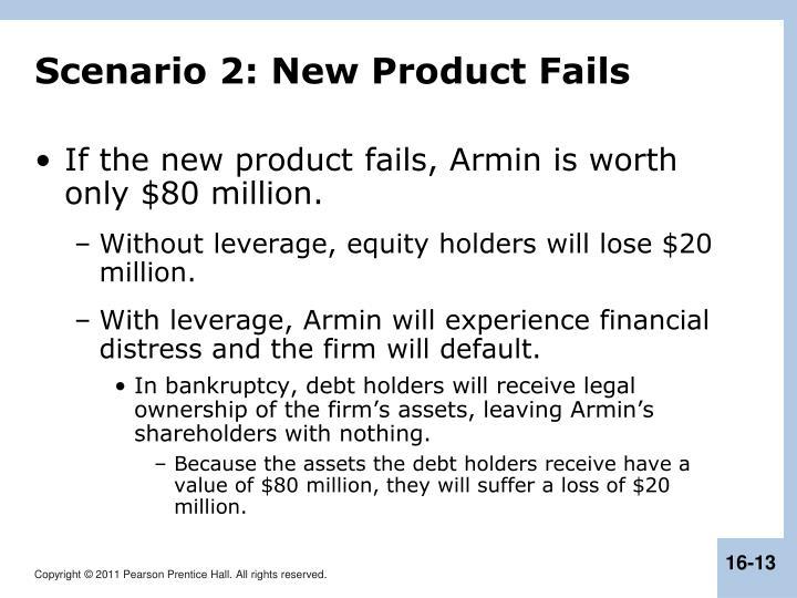 Scenario 2: New Product Fails