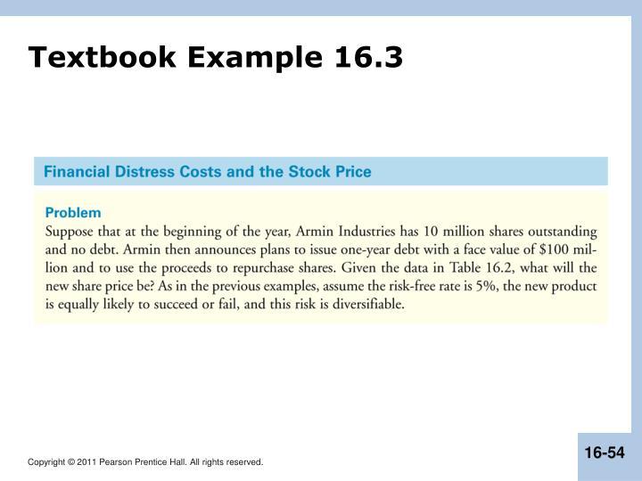 Textbook Example 16.3