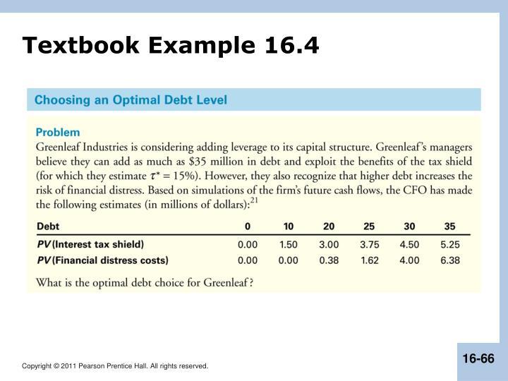 Textbook Example 16.4