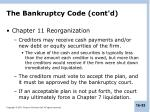 the bankruptcy code cont d2