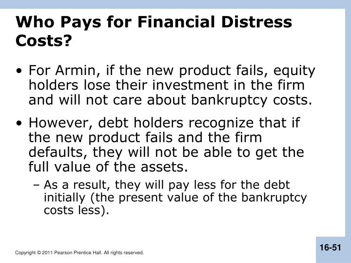Who Pays for Financial Distress Costs?