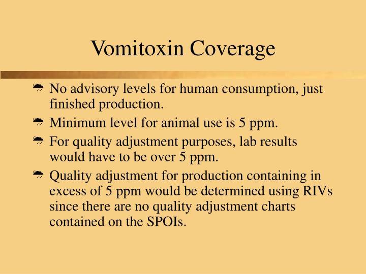 Vomitoxin Coverage