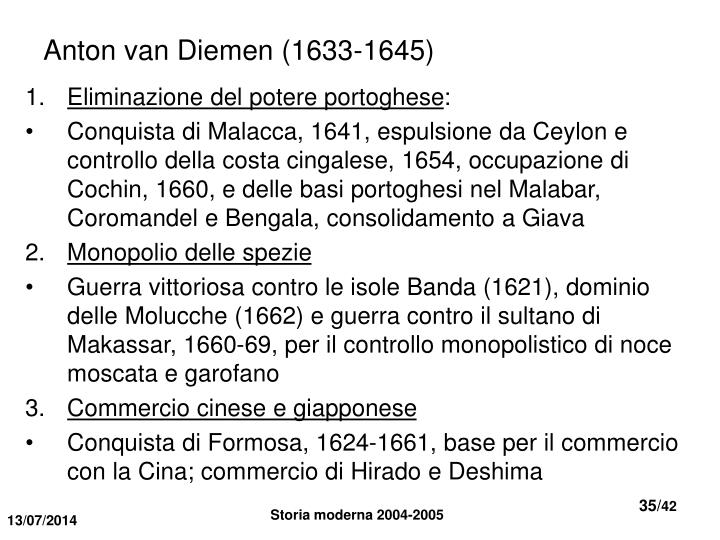 Anton van Diemen (1633-1645)