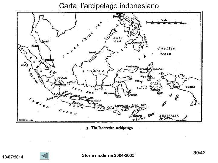 Carta: l'arcipelago indonesiano