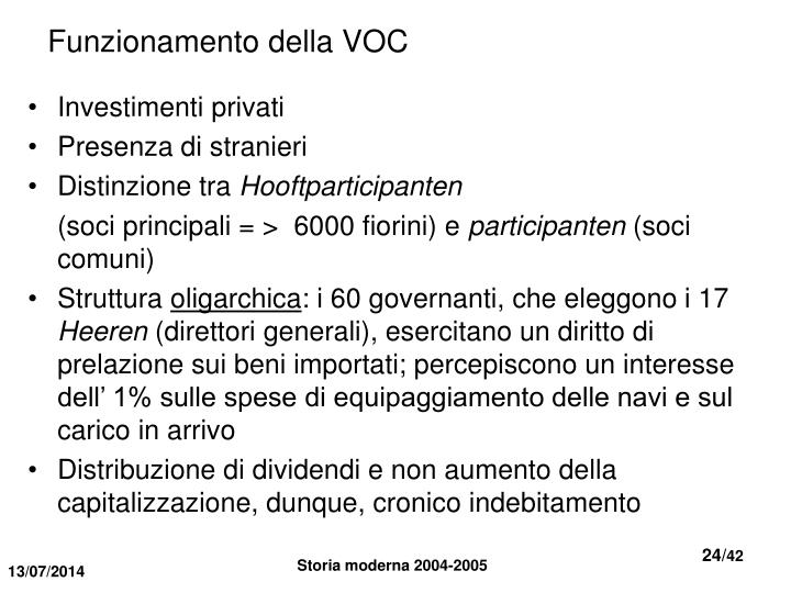 Funzionamento della VOC