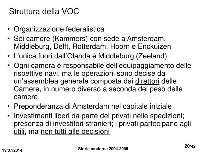 Struttura della VOC