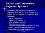 e cash and innovative payment systems6