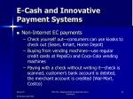 e cash and innovative payment systems7